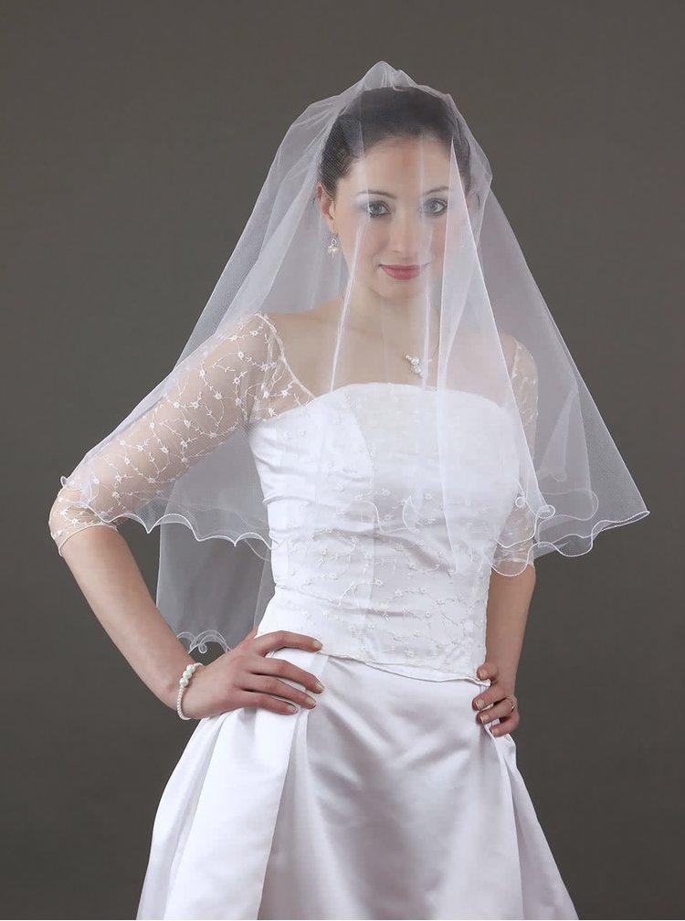 Krátky svadobný závoj od návrhárky Marcely Michálkovej