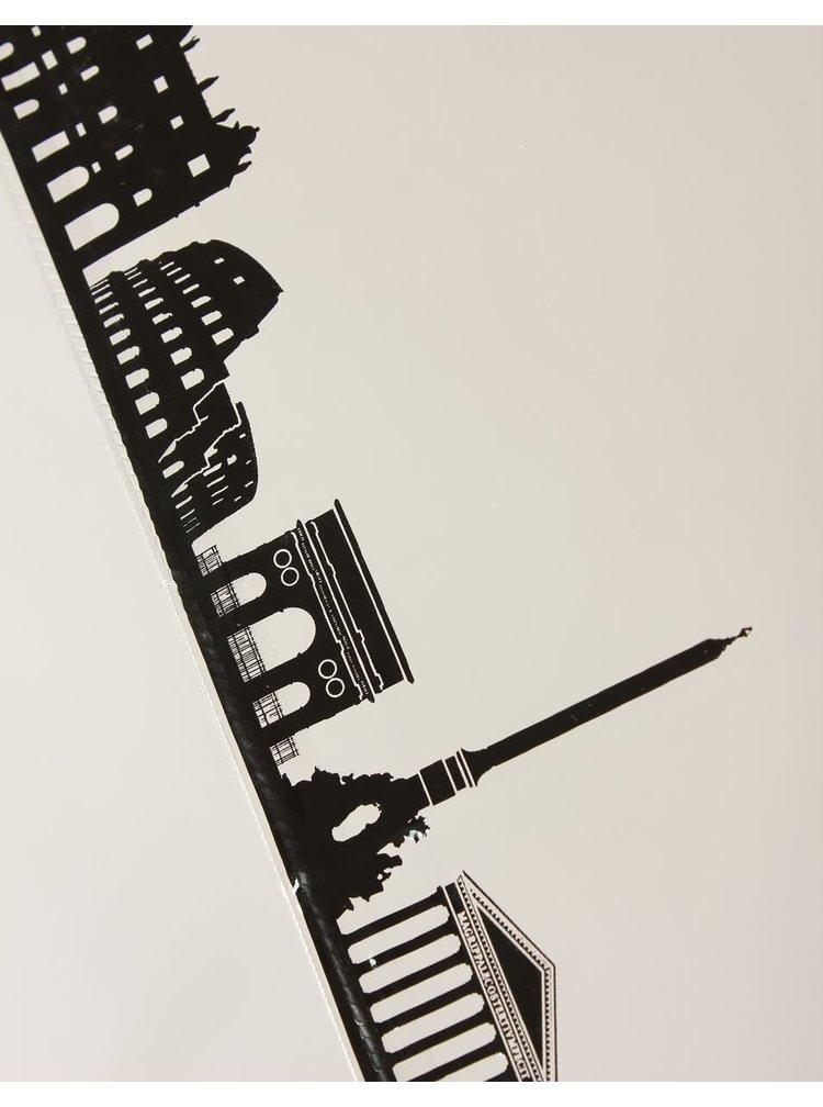Dáždnik Lindy Lou Skyline s panorámou Ríma na okraji