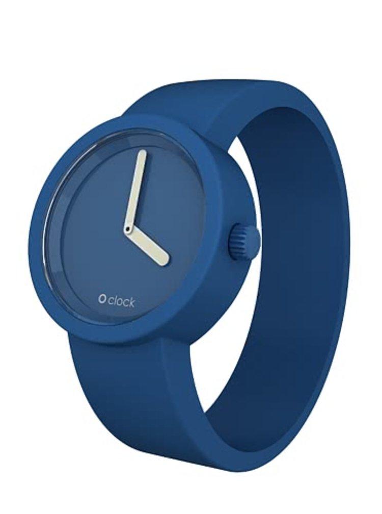 Brățară de ceas din silicon albastru de la O Clock