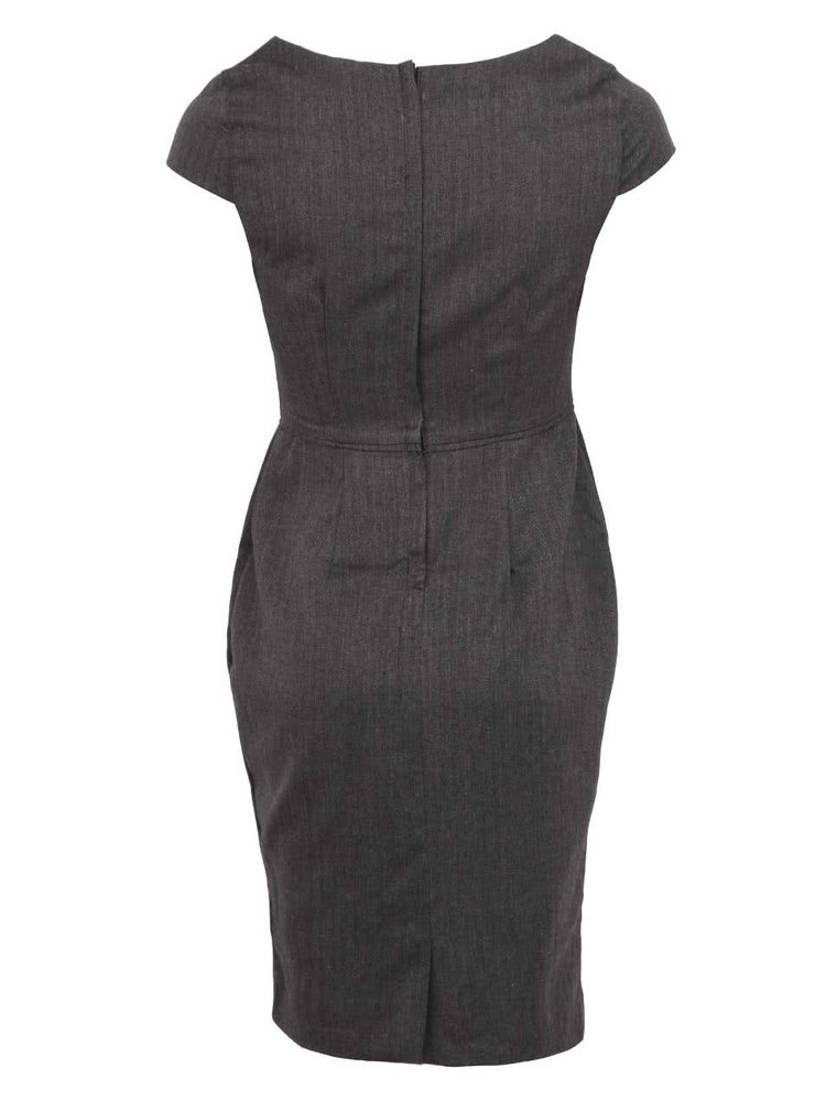 Šedé pouzdrové šaty Fever London Canary