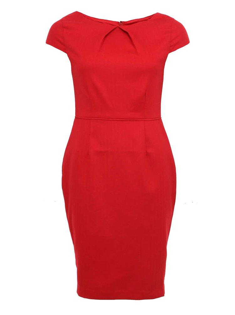 Červené pouzdrové šaty Fever London Canary