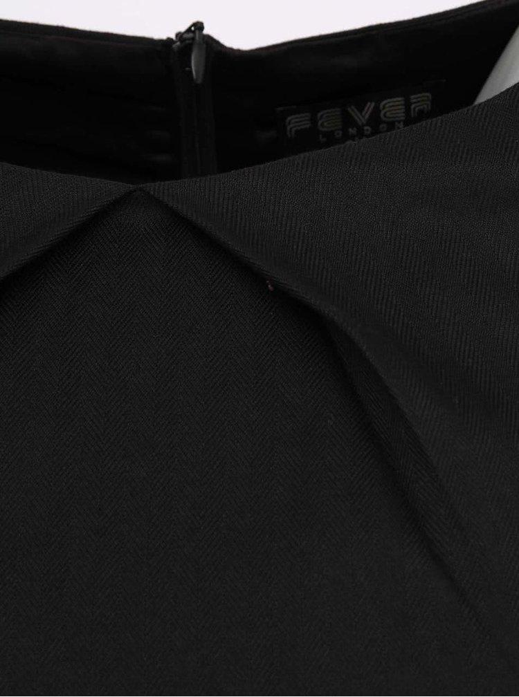 Čierne puzdrové šaty Fever London Canary