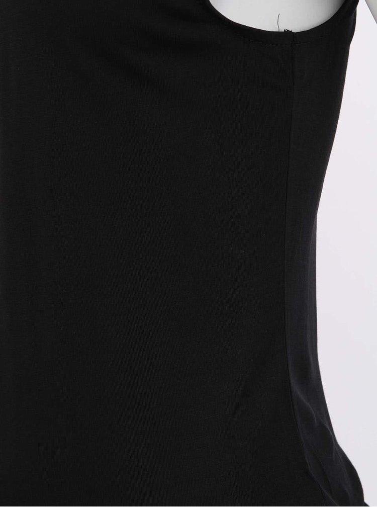Bluză neagră Luisa cu mâneci din dantelă VERO MODA Hande