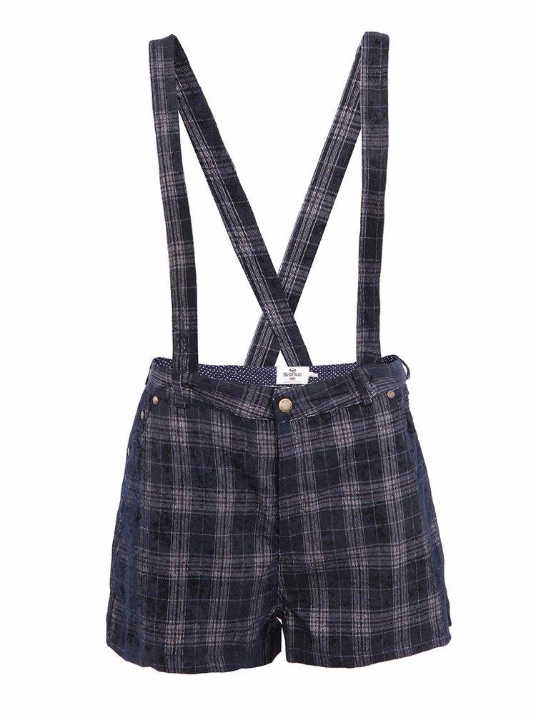 Tmavomodré dámske šortky s trakmi Bellfield BELINSKY