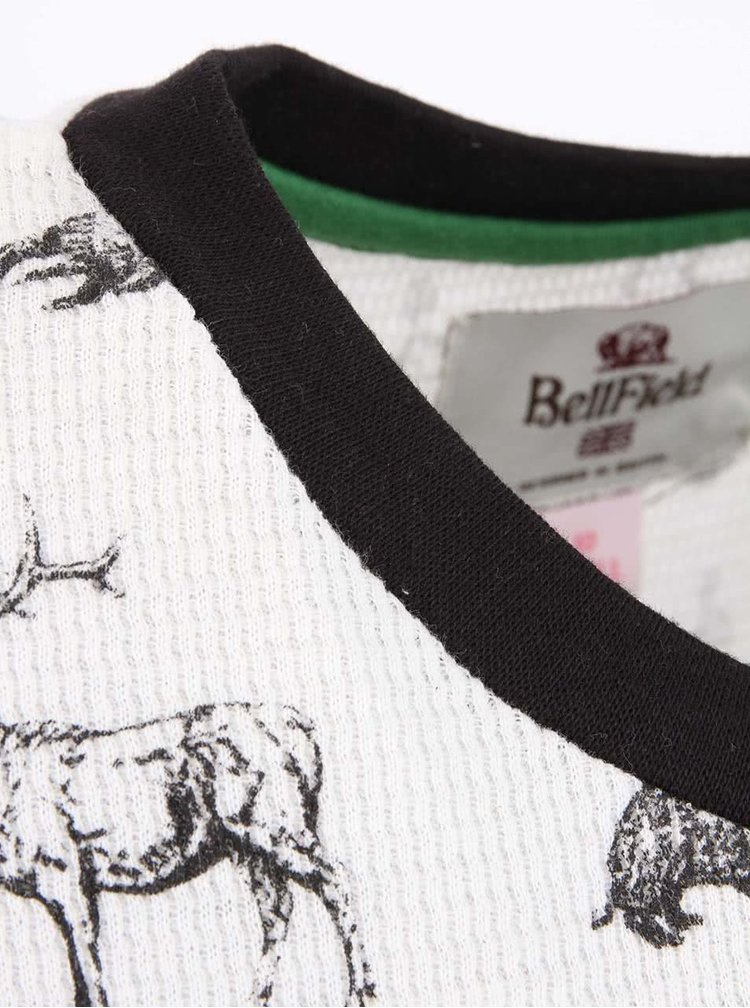 Krémové dámske tričko s potlačou Bellfield KIRS