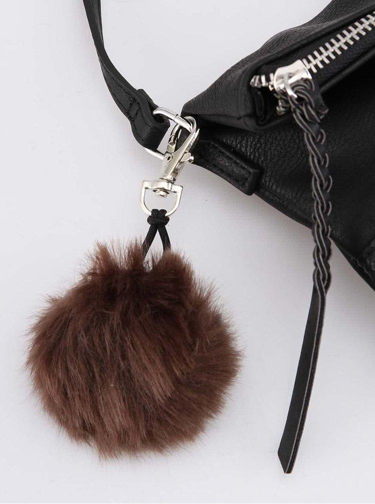 Čierna menšia kabelka s brmbolcom Pieces Kezia