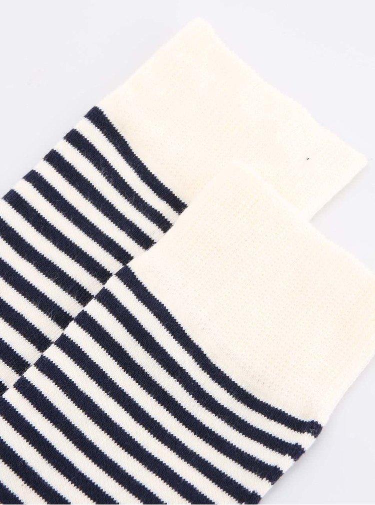 Trojfarebné pánske pásikavé ponožky Happy Socks Half Stripe