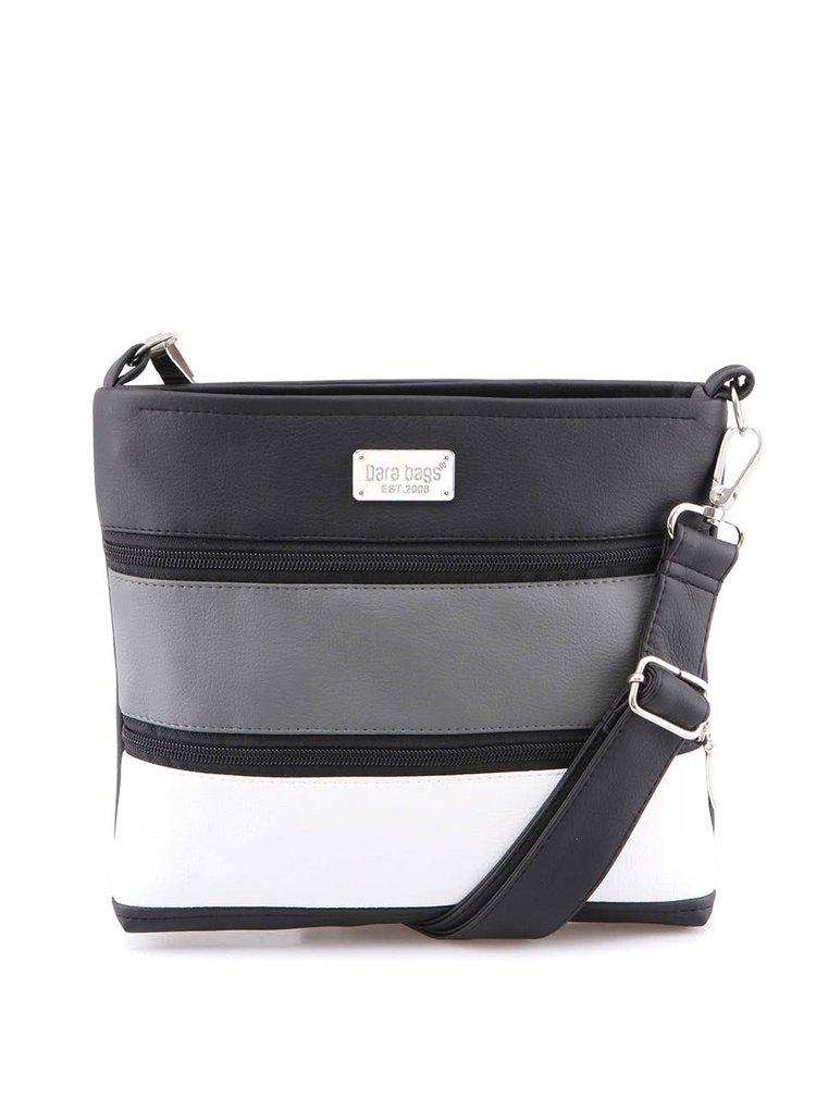 Šedo-černá kabelka Dara bags Dariana Mini