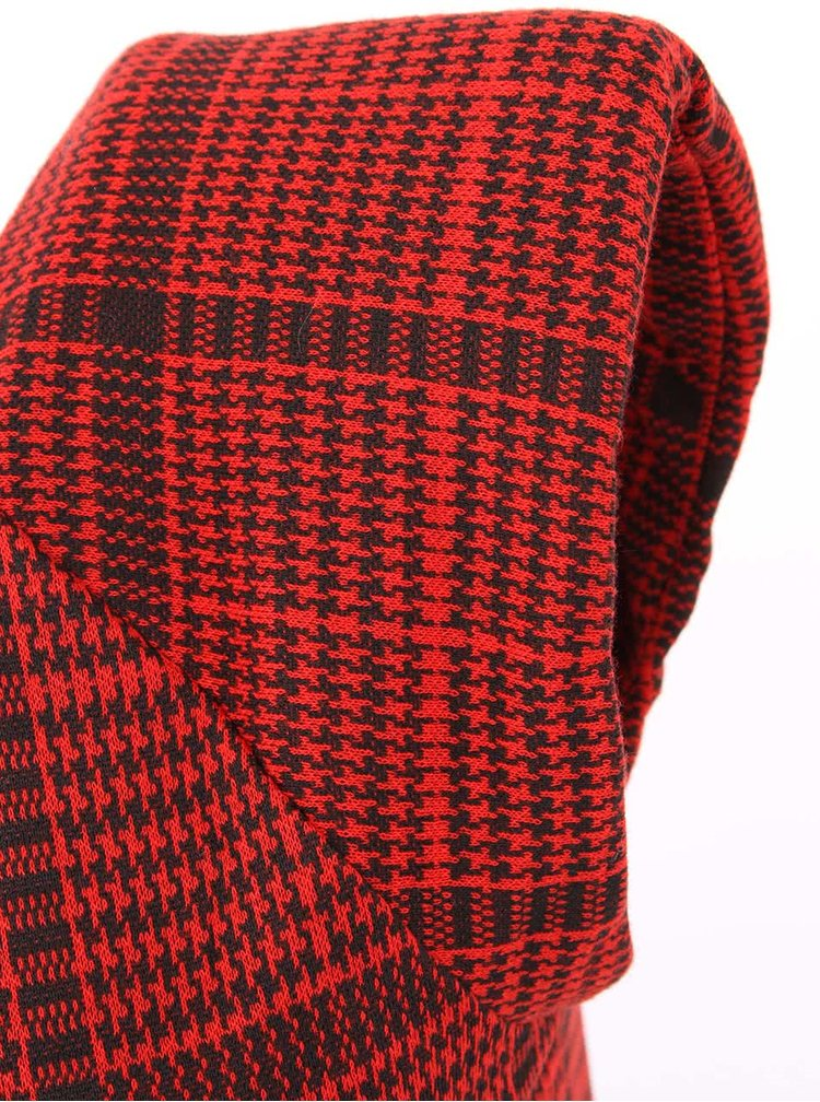 Červené vzorované minišaty Ax Paris a