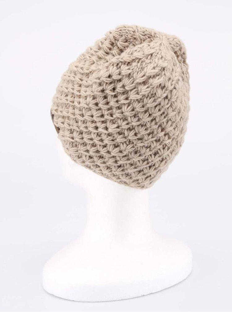 Béžová pletená čepice TRANQUILLO RAJA