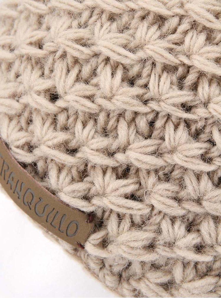 Căciulă tricotată bej TRANQUILLO RAJA