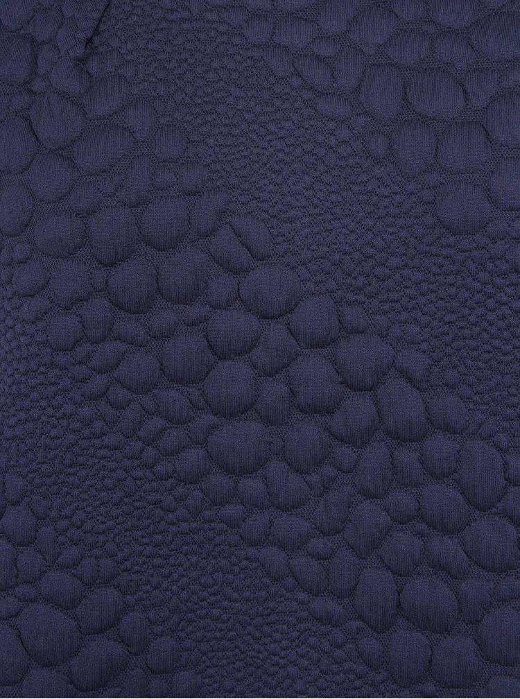 Tmavomodrá vzorovaná oversized blúzka ICHI Rina