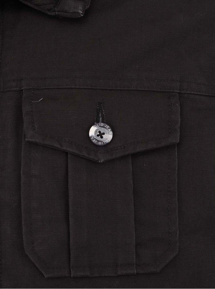 Čierna bunda !Solid Kodjo