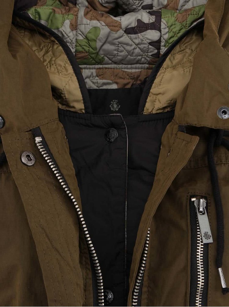 Parka Technical 2-în-1 Maison Scotch - verde