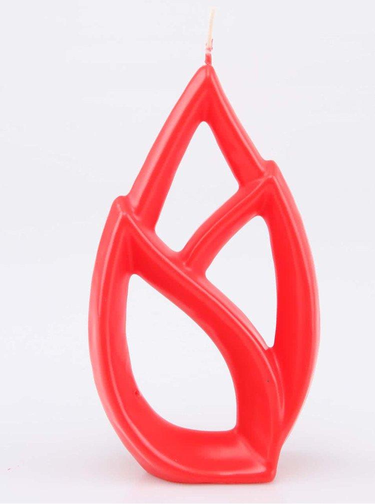 Červená sviečka Alus Livia Petit