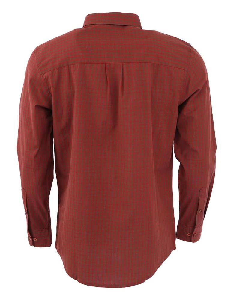 Vínovo-hnedá pánska košeľa WeSC Jerome