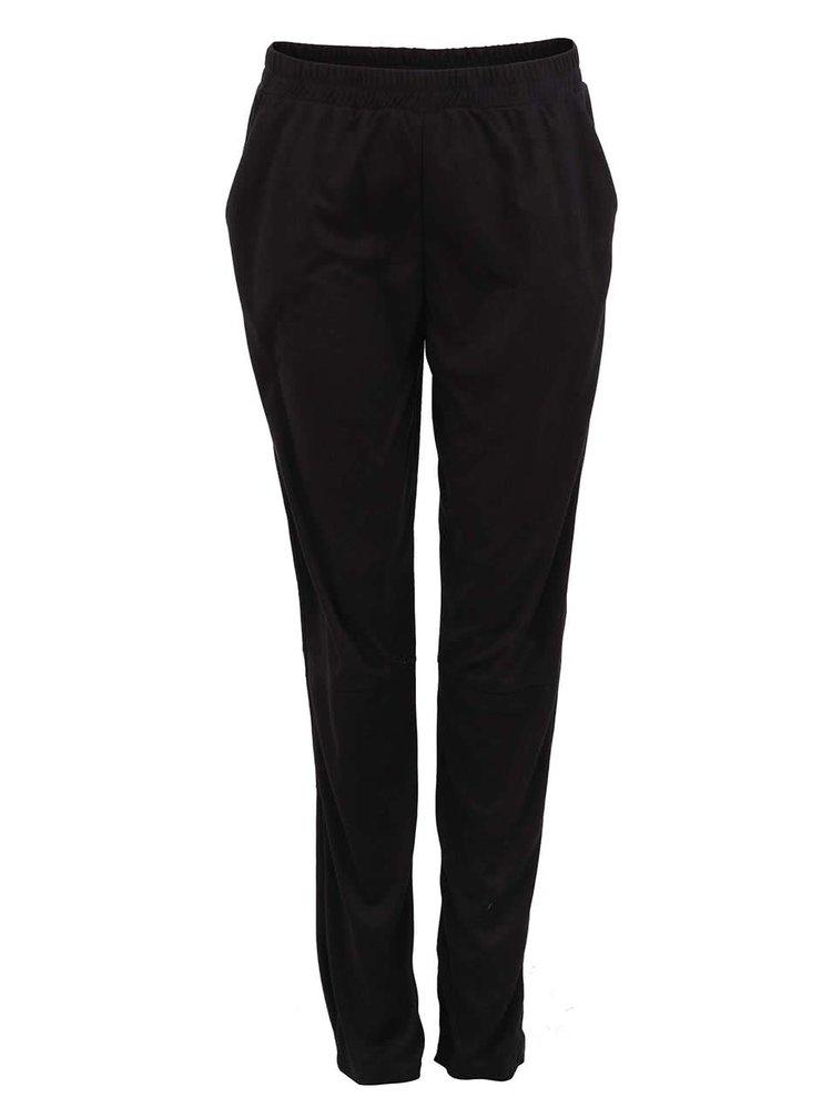 Čierne volnejšie nohavice VERO MODA Suede