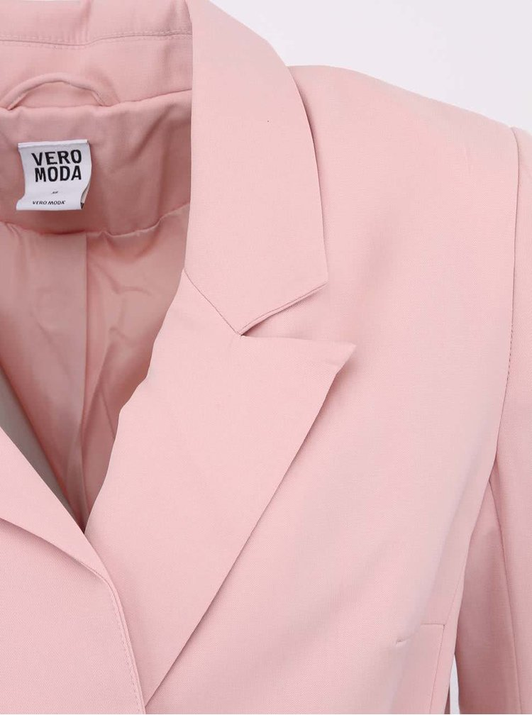 Ružový blejzer VERO MODA Sabi