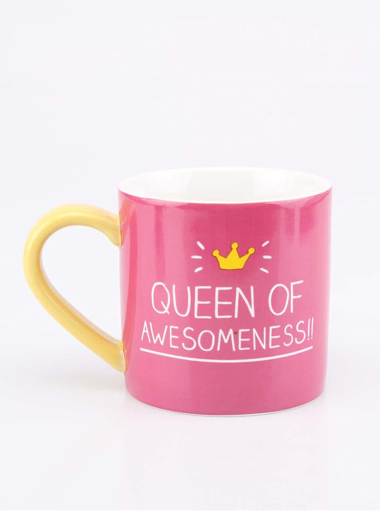 Ružový hrnček Happy Jackson Queen of Awesomeness