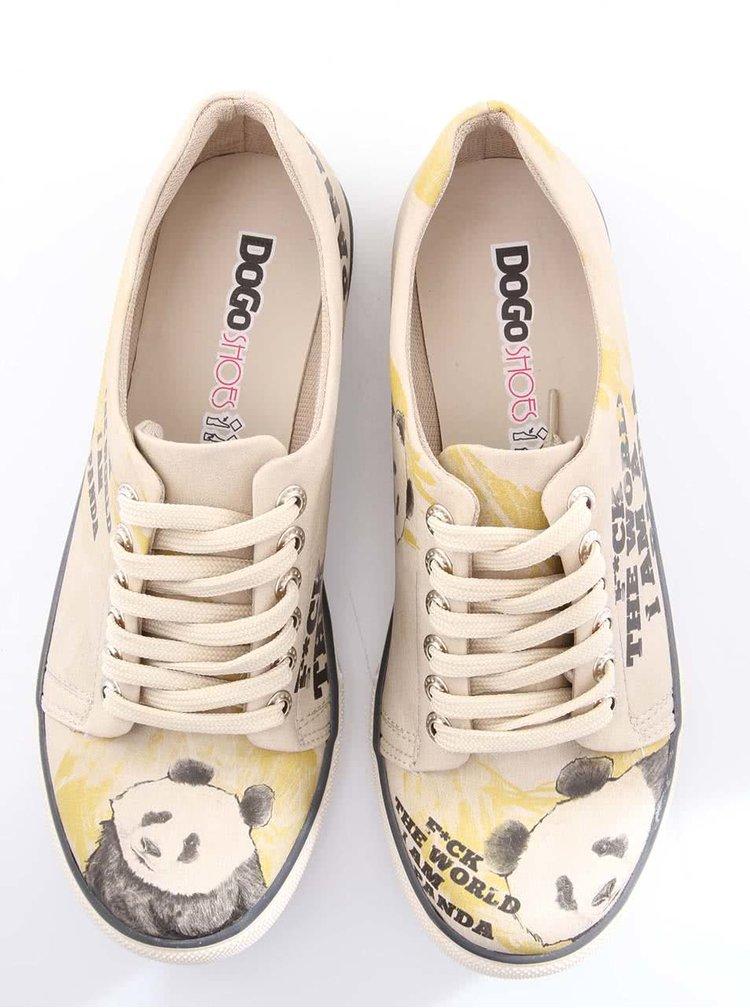 Béžové tenisky Dogo I am A Panda