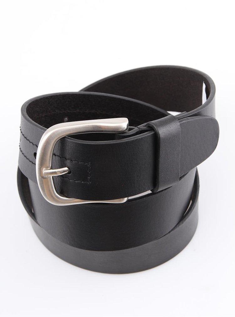 Černý pánský kožený pásek Dice Bowie