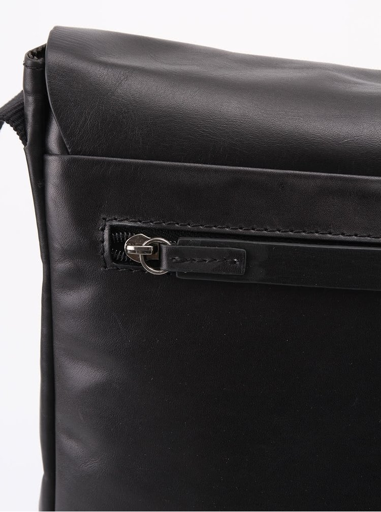 Hnědá kožená pánská taška messenger Strellson Miller SV