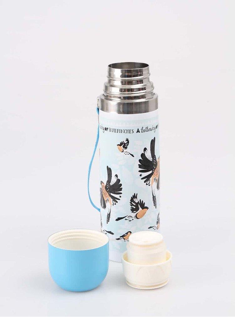 Termos Disaster Collective Noun Bullfinch albastru cu păsări