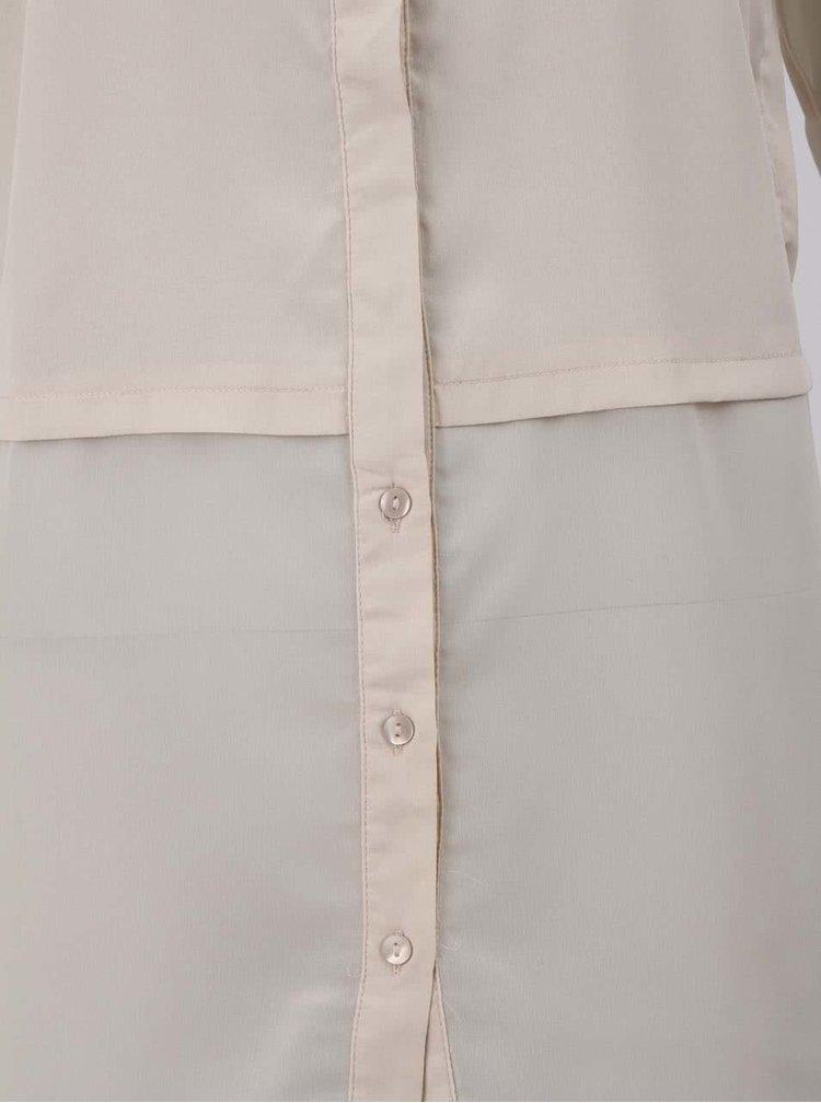 Krémová dlhšia košeľa ONLY Balsa