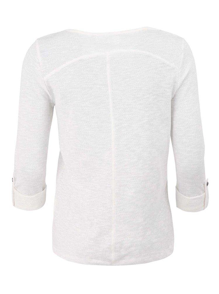 Krémové tričko s 3/4 rukávem ONLY Jess