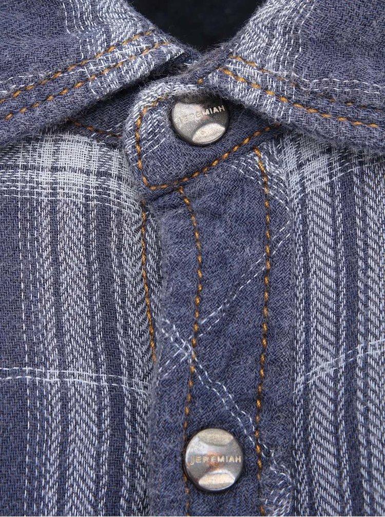 Modrá pánska kockovaná košeľa Jeremiah Vaughn