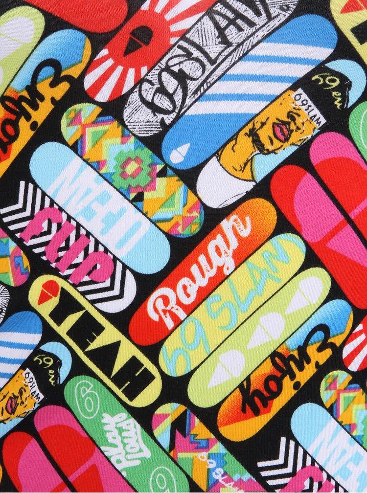 Maiou colorat 69SLAM pentru femei cu imprimeu cu skateboard-uri
