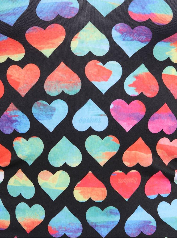 Farebné dámske nohavičky so srdiečkami 69SLAM Rainbow Love
