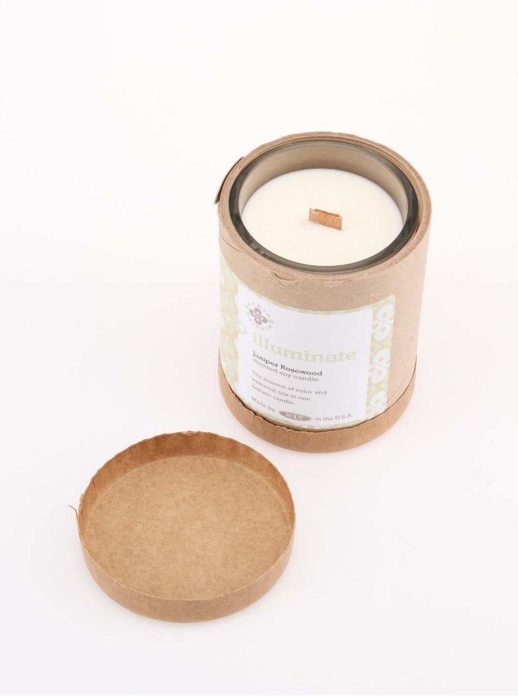Bílá vonná svíčka Root Candles Juniper Rosewood - Illuminate