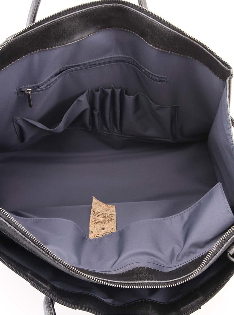 Černá pánská veganská taška Matt & Nat Tacoma