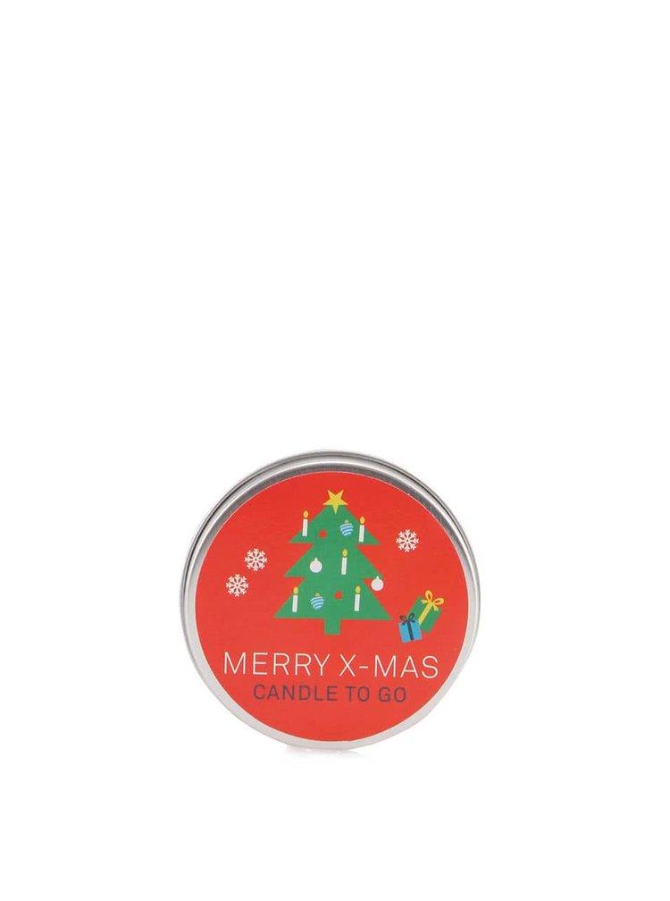 Lumânare de buzunar Donkey Merry X-Mas