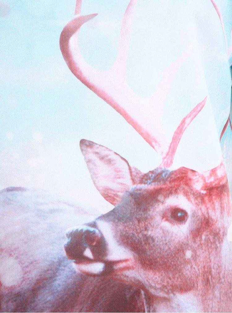 Modrá unisex mikina s jelenem Mr. Gugu & Miss Go Hipster Deer