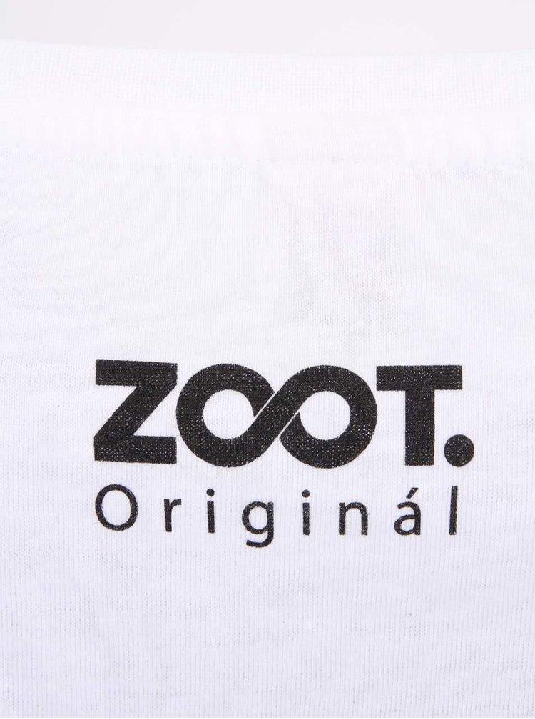 Tricou alb ZOOT Original cu print
