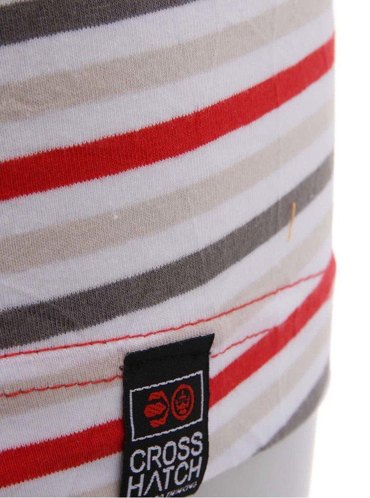 Červeno-sivé pruhované boxerky Crosshatch Plasma