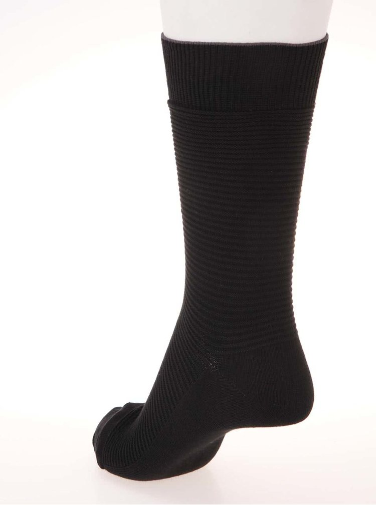 Sada tří párů vroubkovaných ponožek v černé barvě Jack & Jones Fipo