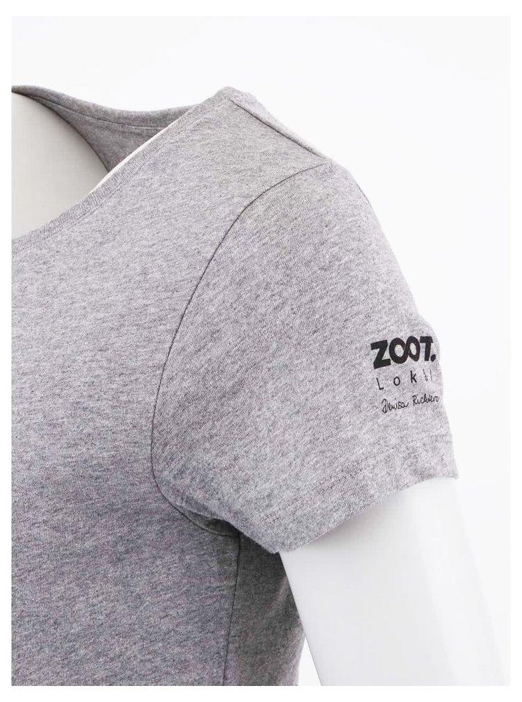 Šedé dámské triko ZOOT Lokál Skládání
