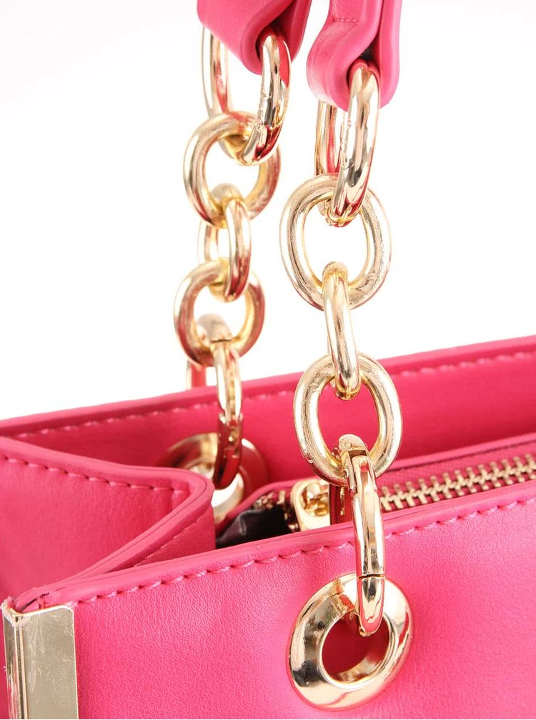 Růžová čtvercová kabelka Anna Smith