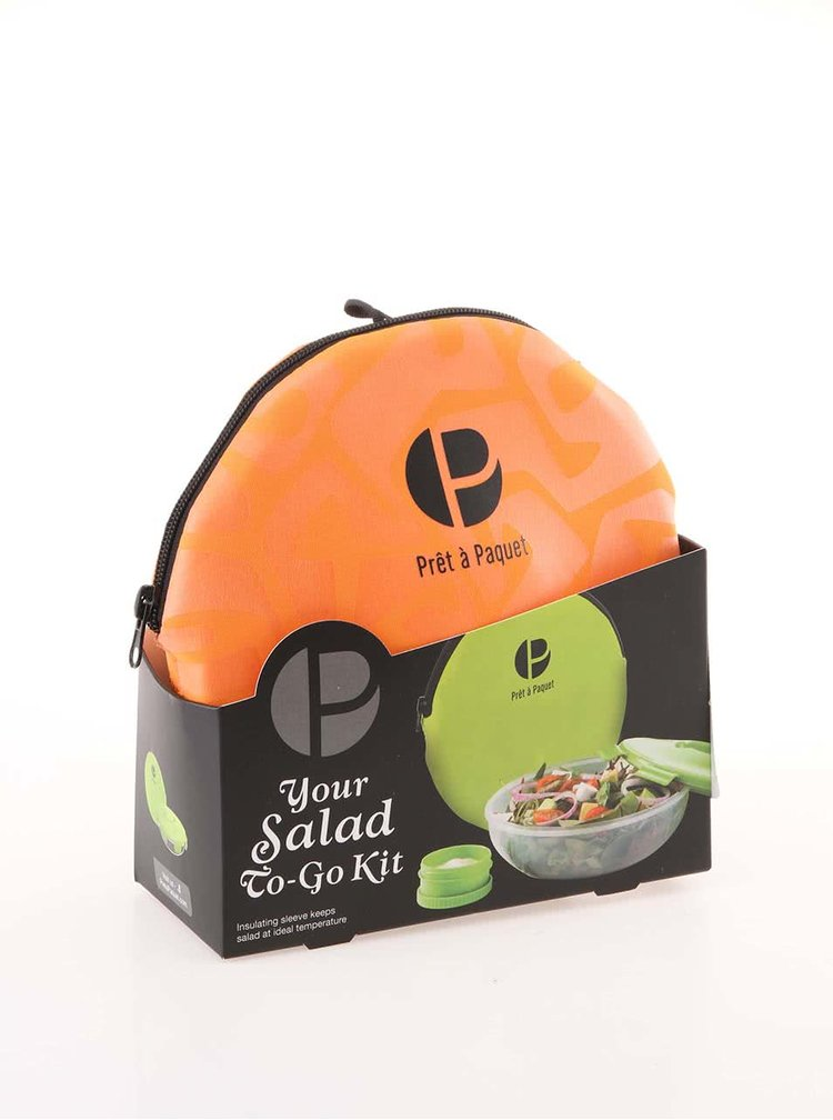 Oranžový box na salát Prêt à Paquet