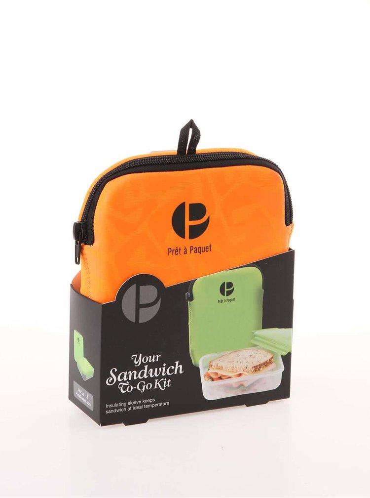 Oranžový box na sandwich Prêt à Paquet