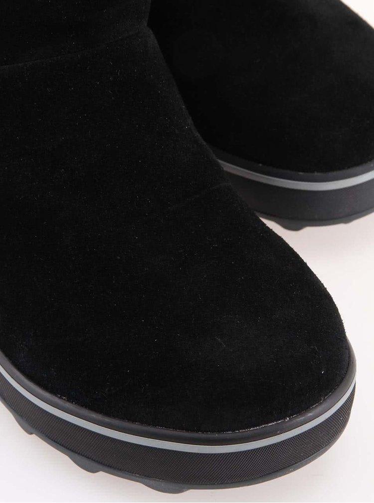 Cizme negre din piele naturala rezistente la apa -  SOREL Glacy