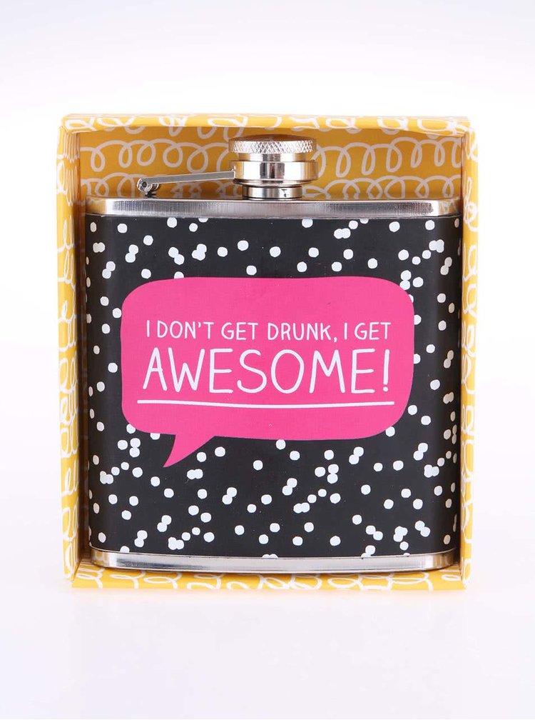 Černá puntíkovaná placatka Happy Jackson Awesome