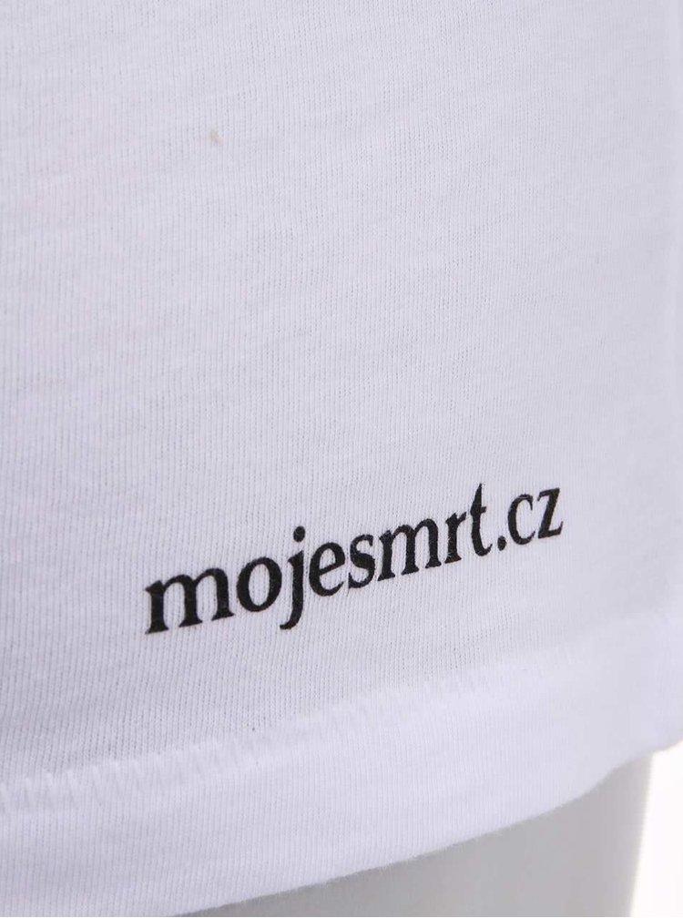 """""""Dobré"""" biele dámske tričko s našitým vreckom Cesta domov"""