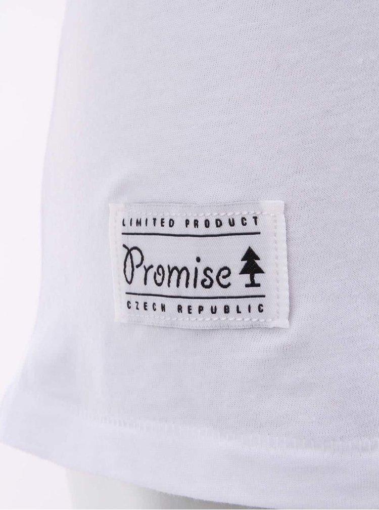 """Dobré"" biele dámske tričko s potlačou Cesta domů"