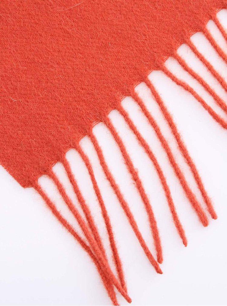 Oranžový pánsky vlnený šál Portia