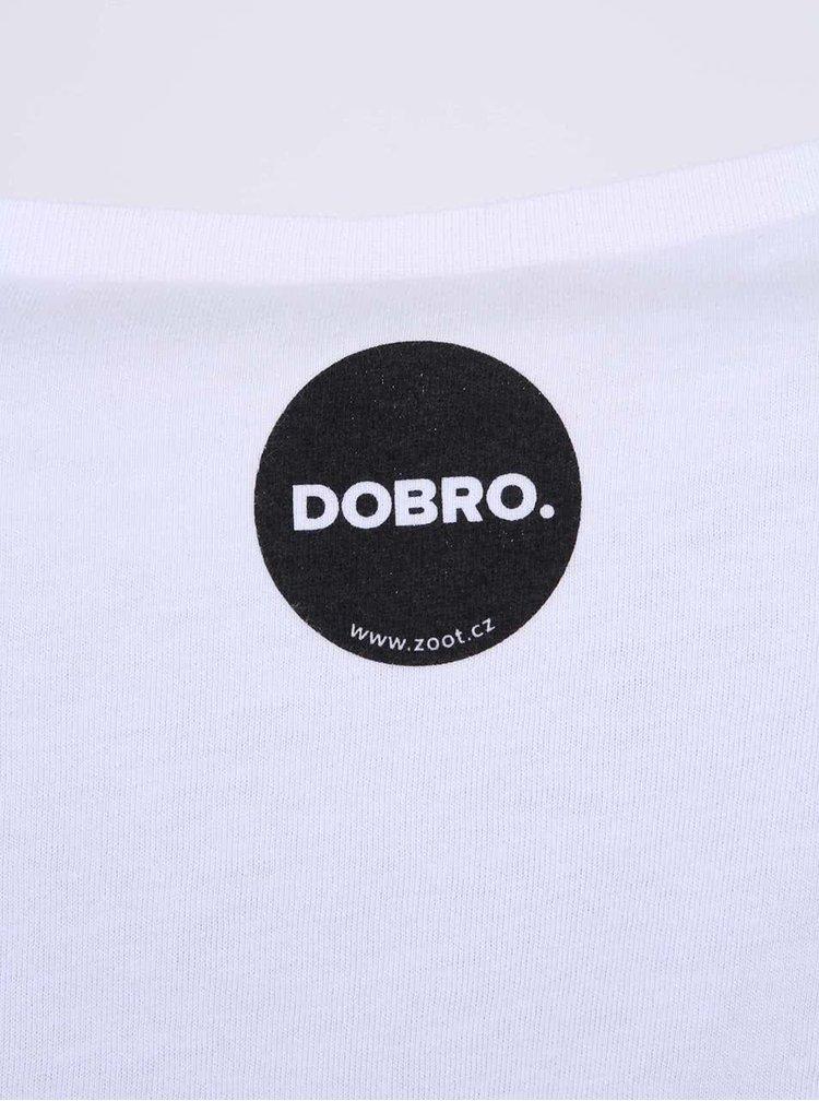 """""""Dobré"""" bílé pánské triko s potiskem Cesta domů"""