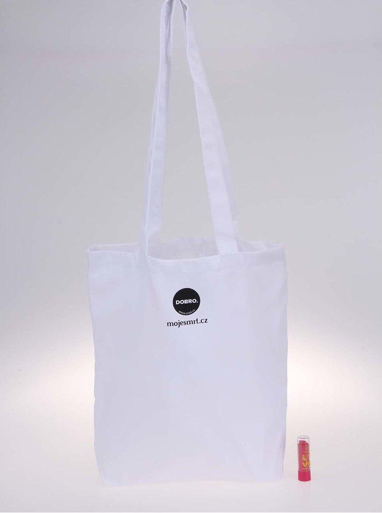 """""""Dobrá"""" bílá plátěná taška Cesta domů"""